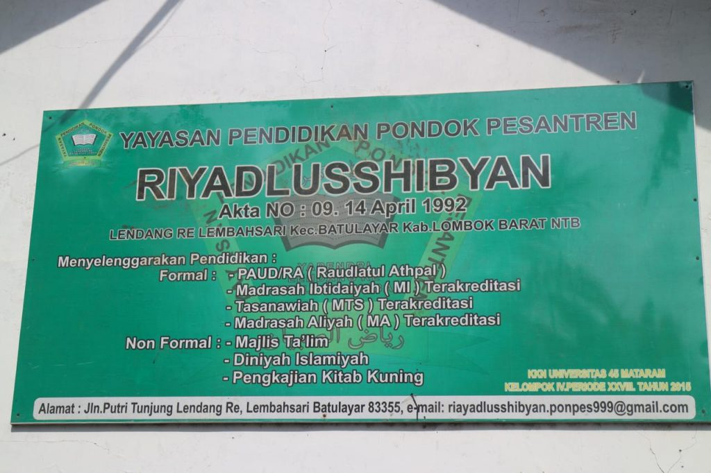 Lions Clubs Membangun Madrasah Riyadlusshibyan, Batu Layar, Lombok