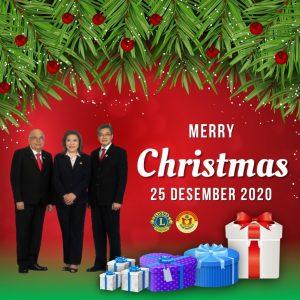Merry Christmas 25 Desember 2020 Lions Clubs International 307 B1